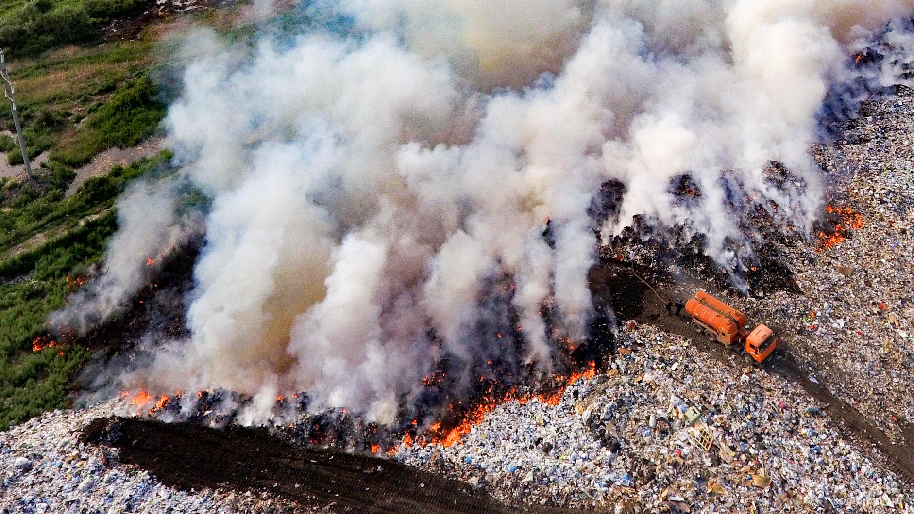 раздельная переработка пластмасс ... огнем